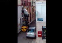 Frigo e carrello elevatore
