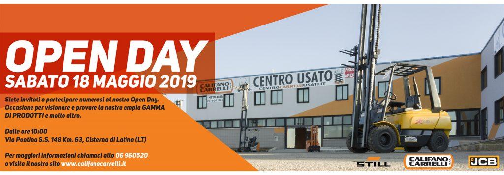 Califano carrelli open day 18 maggio