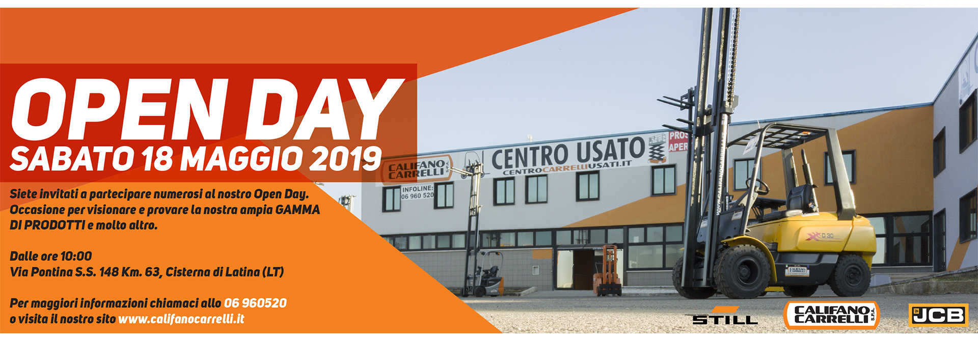 Califano carrelli open day 18 maggio