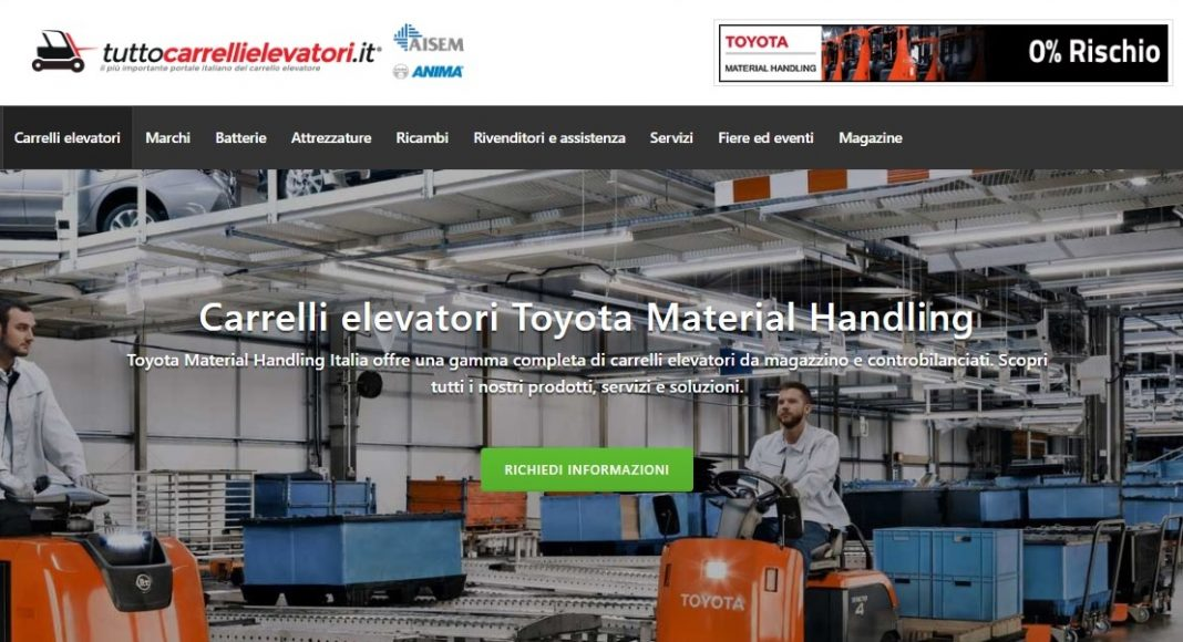 Toyota su tuttocarrellielevatori.it