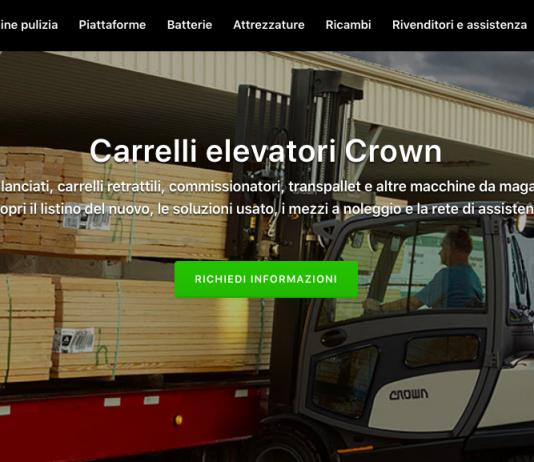 Prestazione e design: i carrelli Crown sbarcano su Tuttocarrellielevatori.it